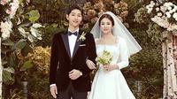 Song Joong Ki  dan Song Hye Kyo kini sudah resmi menjadi sepasang suami-istri. Layaknya pasangan pengantin baru, Song Song Couple ini juga melakukan bulan madu usai melangsungkan pesta pernikahan. (Instagram/kyo1122)