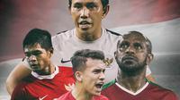 Timnas Indonesia - Lintas Generasi (Bola.com/Adreanus Titus)