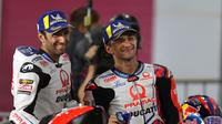 Duo Pramac Racing, Johann Zarco (kiri) dan Jorge Martin usai kualifikasi MotoGP Doha.