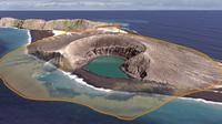 Hunga Tonga, pulau yang baru muncul di bagian selatan Samudera Pasifik (NASA)