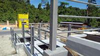 Pembangunan Instalasi Pengolahan Lumpur Tinja (IPLT) di Kabupaten Raja Ampat, Papua Barat. (Dok Kementerian PUPR)
