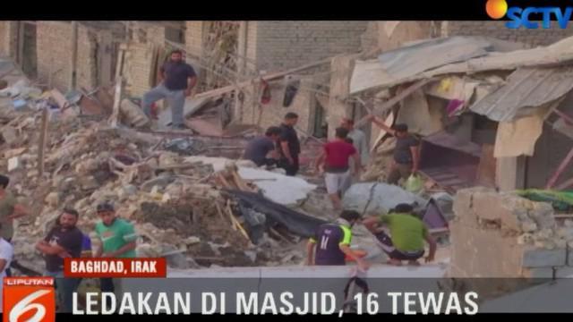 Sumber ledakan disebut berasal dari sebuah gudang senjata di Sadr City, ada pula versi dari tempat penyimpanan senjata di dalam masjid.