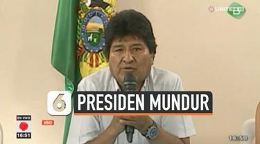 Presiden Bolivia Evo Morales buka suara terkait langkahnya mengundurkan diri. Selain Morales, wakil presiden Alvaro Garcia Juga ikut mengundurkan diri.