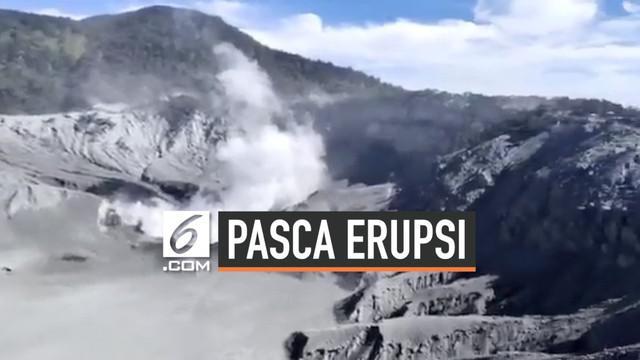 Pasca erupsi sehari, kawasan wisata gunung Tangkuban Perahu ditutup sementara.