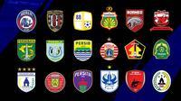 Liga 1 - Ilustrasi BRI Liga 1_18 Logo Peserta Liga (Bola.com/Adreanus Titus)