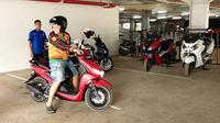 Yamaha FreeGo tersedia di area Test Ride IMOS 2018. (Septian/Liputan6.com)