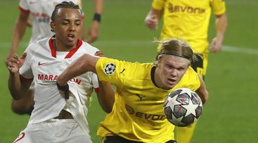 FOTO: Halaand Borong Dua Gol, Borussia Dortmund Tundukkan Sevilla