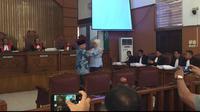 Amien Rais menjadi saksi di sidang kasus hoaks dengan terdakwa Ratna Sarumpaet. (Ady Anugrahadi/Liputan6.com)