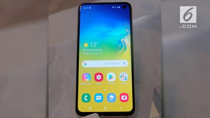 Samsung Galaxy S10e. Liputan6.com/Andina Librianty