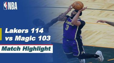 Berita video highlight NBA, LA Lakers curi kemenangan dikandang Orlando Magic 114-103, Selasa (27/4/2021).