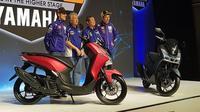 Rossi dan Vinales Luncurkan Yamaha Lexi di Jakarta (Herdi/Liputan6.com)