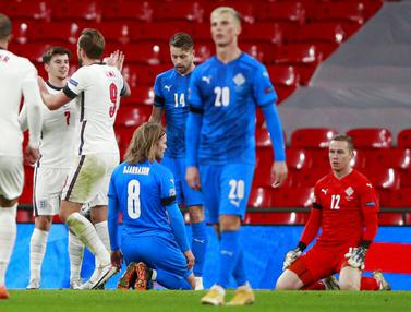 Inggris Pesta Gol ke Gawang Islandia di UEFA Nations League
