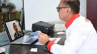 Ketua PSSI, Mochamad Iriawan, saat melakukan Rapat Dengar Pendapat Umum (RDPU) dengan DPR RI secara virtual, Rabu (8/4/2020). (Dok. PSSI)