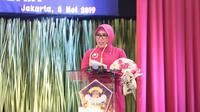 Ketua Pembina Yayasan Kemala Bhayangkari, Tri Tito Karnavian memberikan sambutan dalam acara di Jakarta. (Istimewa)