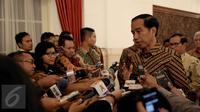 Presiden RI, Jokowi saat memberikan keteranga pers di Istana Negara, Jakarta. (Liputan6.com/Faizal fanani)