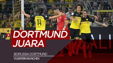 Berita video highlight kemenangan Borussia Dortmund atas Bayern Munchen di Piala Super Jerman, Sabtu (4/8/2019).