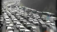 Antrean ini imbas macetnya arus lalu lintas dari arah Jakarta menuju kawasan wisata Puncak Bogor. (Liputan 6 SCTV)