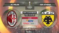 Liga Europa 2017-2018 AC Milan Vs AEK Athena (Bola.com/Adreanus Titus)