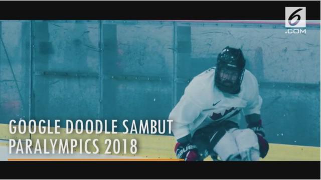 Google doodle hari ini sambut pembukaan Paralimpiade Musim Dingin 2018 yang digelar di Pyeongchang, Korea Selatan.