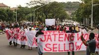 Forum Guyub Rukun Jawa Tengah, menggelar aksi damai di Kota Semarang, Rabu (21/10/2020).