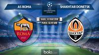 Jadwal Liga Champions, AS Roma Vs Shakhtar Donetsk. (Bola.com/Dody Iryawan)