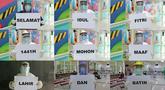 "Foto gabungan tenaga medis saat memegang kertas bertuliskan ""Idul Fitri"" di RSUD Pasar Minggu, Jakarta, Jumat (22/5/2020). Sejumlah garda terdepan Covid-19 menyampaikan pesan sebuah tulisan. (Liputan6.com/Herman Zakharia)"