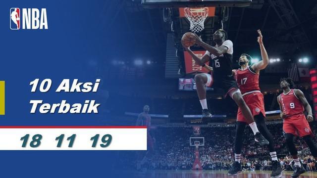Berita Video 10 aksi pemain terbaik NBA tanggal 19 November 2019
