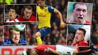 Kumpulan ekspresi jelek bek Manchester United, Phil Jones. (Twitter)