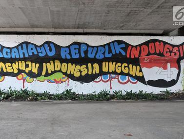 Mural Sambut HUT Kemerdekaan RI