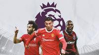 Premier League - Mohamed Salah, Cristiano Ronaldo, Michail Antonio (Bola.com/Adreanus Titus)