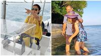 Momen Mayangsari dan kelaurga liburan mewah di Bali. (Sumber: Instagram/@mayangsari_official)