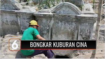 VIDEO: 2 Makam Keturunan Tionghoa Dibongkar Orang Tak Dikenal, Diduga Demi Cari Harta Karun