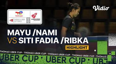 Berita Video, Highlights Piala Uber 2020, Indonesia Tertinggal 2-0 usai Siti/Ribka Kalah dari Wakil Jepang