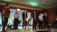 Ini 5 pemenang favorit News Presenter EGTC 2018 di Bandung. (Liputan6.com/Huyogo Simbolon)