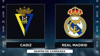 La Liga - Cadiz Vs Real Madrid (Bola.com/Adreanus TItus)
