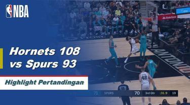 Kemba Walker skor 33 ketika Hornets mendapatkan kemenangan atas Spurs, 108-93.