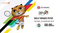 banner livestreaming Bulu Tangkis Putri sea games 2017 (Liputan6.com/Trie yas)