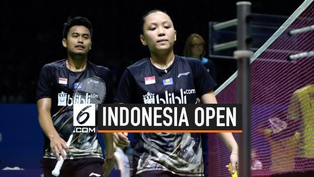 Ganda campuran Indonesia Tontowi Ahmad dan Winny Octavia berhasil mengalahkan ganda campuran India pada Indonesia Open 2019.