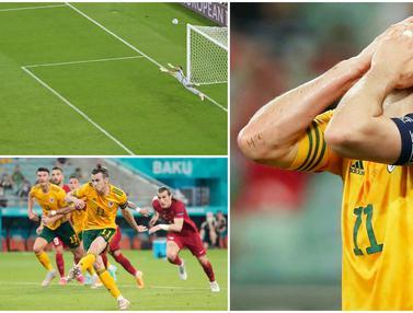 Foto Piala Eropa: Melihat Tendangan Penalti Ngawur Gareth Bale Saat Wales Benamkan Turki di Euro 2020