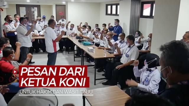 Berita video Ketua Umum KONI Pusat, Marciano Norman, memberi pesan kepada para hakim dan wasit yang bertugas di PON Papua 2021.