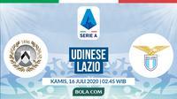 Serie A: Udinese vs Lazio. (Bola.com/Dody Iryawan)
