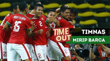 Gaya bermain Timnas Indonesia U-22 terlihat mulai mengedepankan penguasaan bola mirip seperti Barcelona.