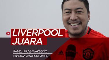 Berita video komedian yang juga penggemar Manchester United, Pandji Pragiwaksono, memprediksi Liverpool akan mengalahkan Tottenham Hotspur di Final Liga Champions 2018-2019.