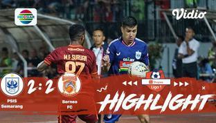 Laga lanjutan #ShopeeLiga1, mempertemukan #PsisSemarang vs #BorneoFc pada hari Sabtu malam (26/10/2019) berakhir dengan skor 2-2.