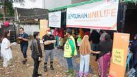 BNI Life memberikan bantuan melalui 8 posko di Jakarta, Bekasi dan Banten. (Dok BNI Life)