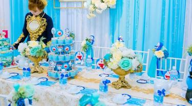 pesta tunangan dengan tema Doraemon
