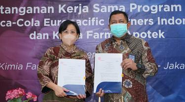 Kimia Farma memberi kemudahan akses dan layanan dalam memperoleh vitamin, suplemen, dan produk kesehatan bagi 4.700 karyawan Coca-Cola Europacific Partners Indonesia