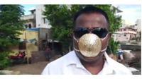 Pria ini buat masker dengan emas seberat 2,3 kilogram. (Sumber: Dream)