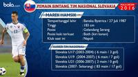 Gelandang tim nasional Slovakia, Marek Hamsik. (Bola.com/Rudi Riana)
