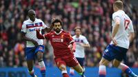 Aksi Mohamed Salah saat Liverpool melawan Stoke City (AFP)